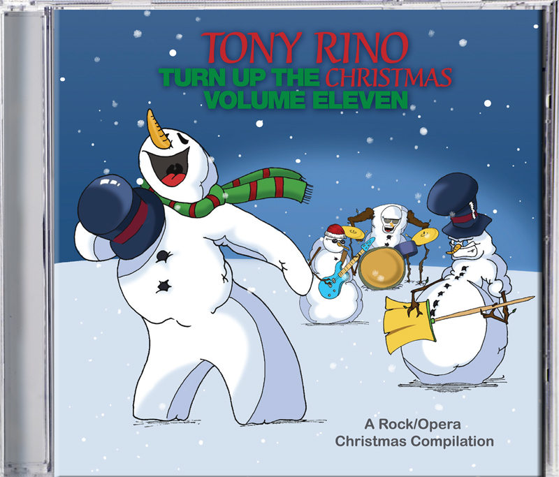 Turn up the Christmas (volume eleven) by Tony Rino, produced by Russell Broom